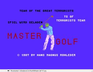 Master Golf TIT 01