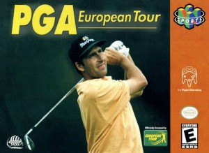 PGA European Tour N64 box