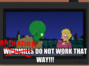Radiation do not work that way